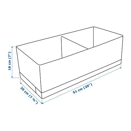 STUK Ящик с отделениями, белый / серый, 20x51x18 см-4