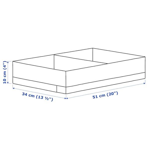 STUK Pudełko z przegródkami, biały, 34x51x10 cm