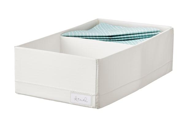 STUK Pudełko z przegródkami, biały, 20x34x10 cm
