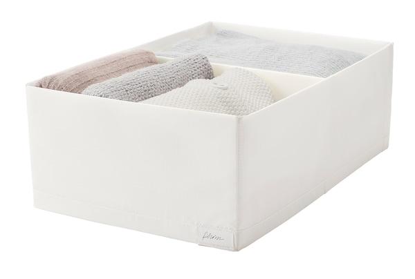 STUK Pudełko z przegródkami, biały, 34x51x18 cm