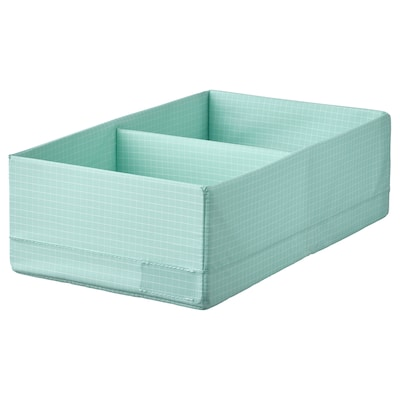 STUK Pudełko z przegródkami, jasnoturkusowy, 20x34x10 cm