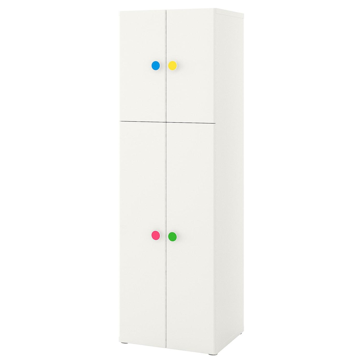 IKEA STUVA biała szafa z czterema drzwiami FÖLJA, 60x50x192 cm
