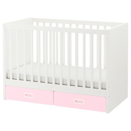 STUVA / FRITIDS łóżeczko z szufladami jasnoróżowy 126 cm 66 cm 86 cm 60 cm 120 cm 20 kg