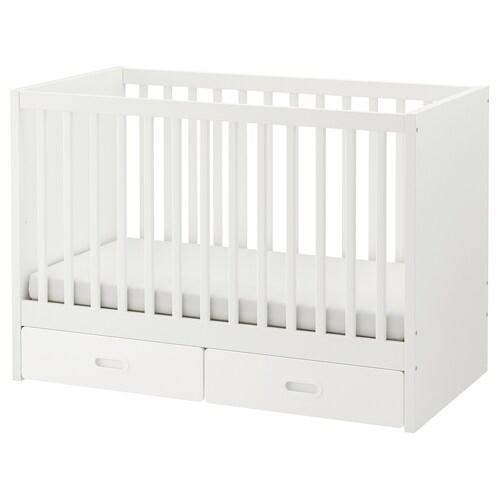 STUVA / FRITIDS łóżeczko z szufladami biały 126 cm 66 cm 86 cm 60 cm 120 cm 20 kg