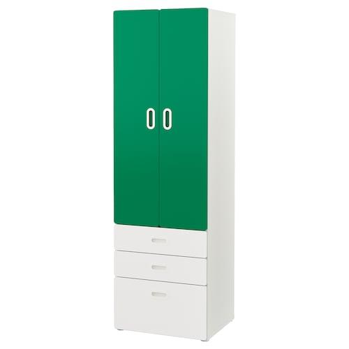 STUVA / FRITIDS szafa biały/zielony 60 cm 50 cm 192 cm