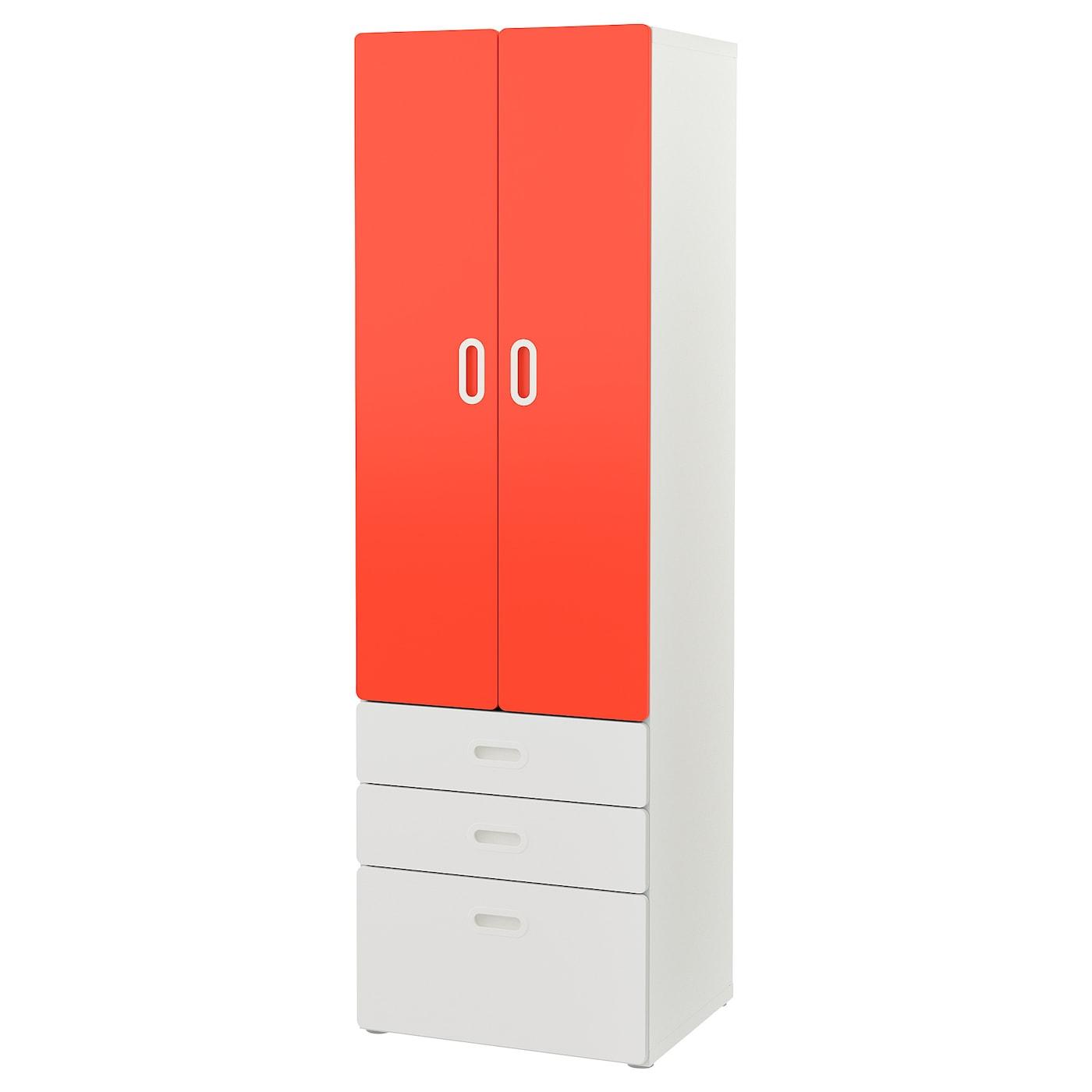 IKEA STUVA / FRITIDS Szafa, biały, czerwony, 60x50x192 cm