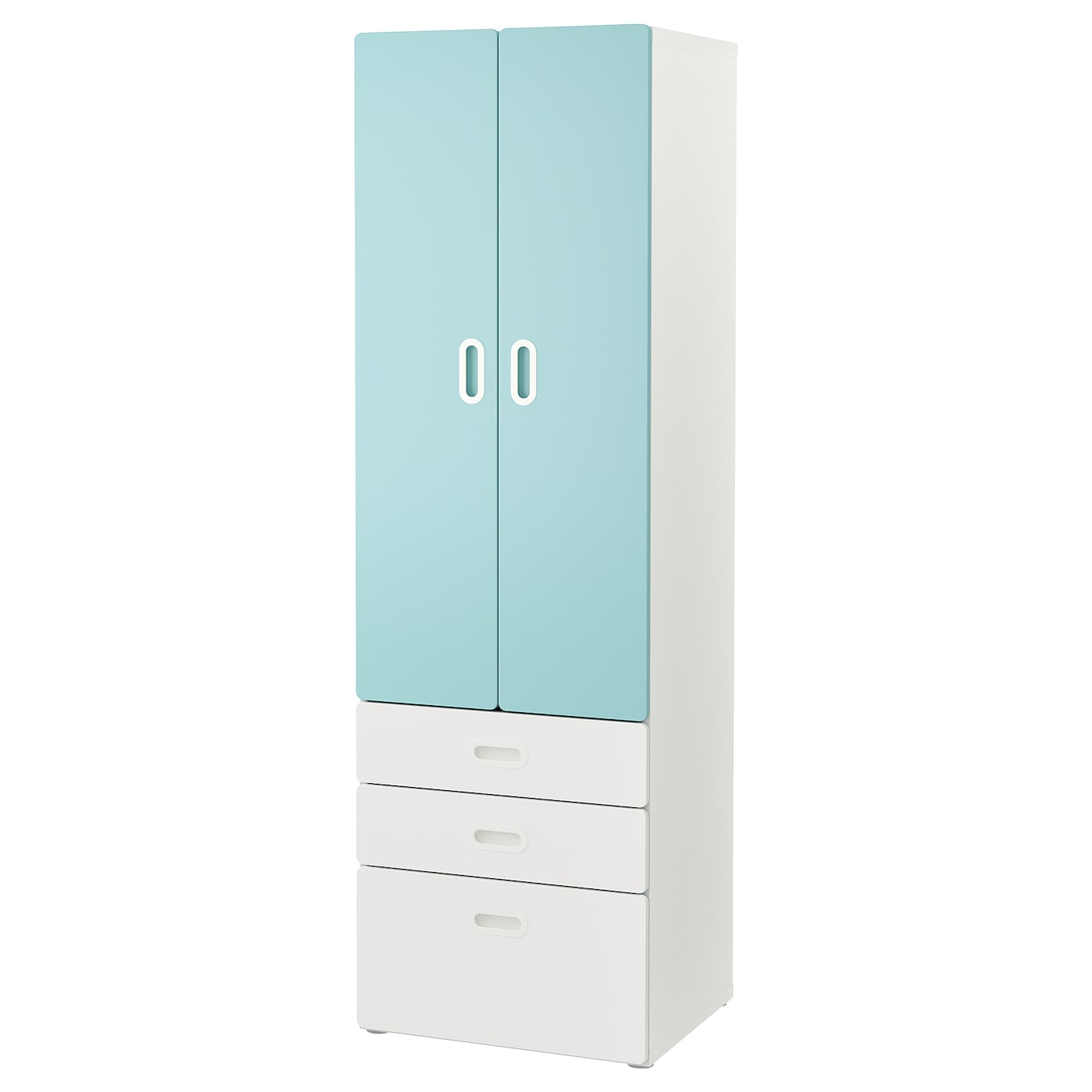 IKEA STUVA / FRITIDS Szafa, biały, jasnoniebieski, 60x50x192 cm