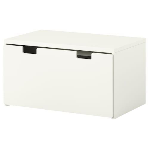 STUVA / STUVA MÅLAD ławka z pojemnikiem na zabawki biały/biały 90 cm 50 cm 50 cm