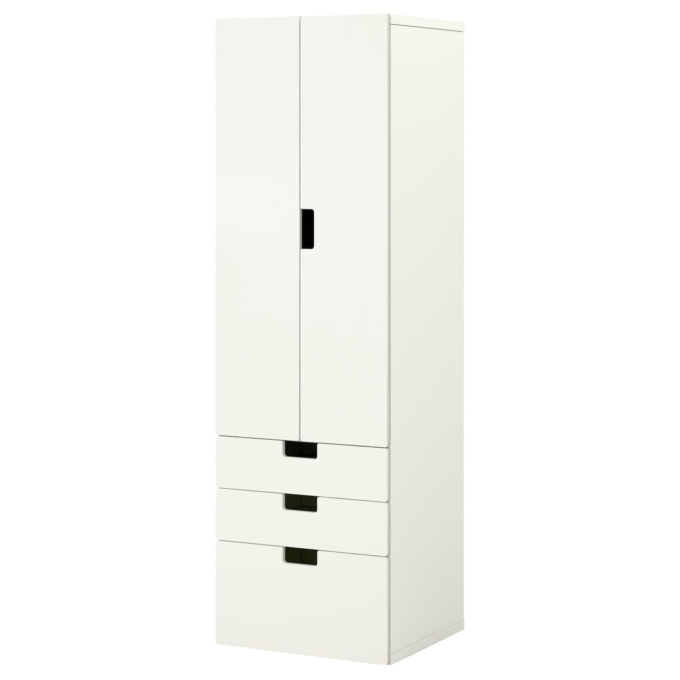 IKEA STUVA / STUVA MÅLAD Szafa, biały, biały, 60x50x192 cm