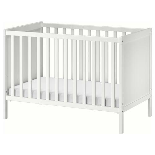 SUNDVIK łóżko dziecięce biały 125 cm 67 cm 85 cm 60 cm 120 cm 20 kg