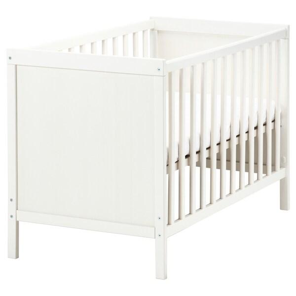 SUNDVIK Łóżko dziecięce, biały, 60x120 cm