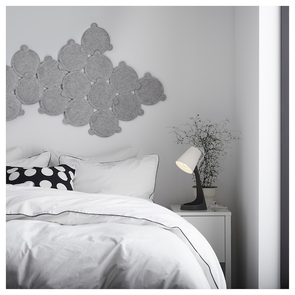 SVALLET Lampa biurkowa, ciemnoszary/biały