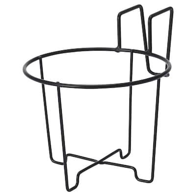 SVARTPEPPAR Uchwyt na doniczkę, do wewnątrz/na zewnątrz czarny, 16 cm