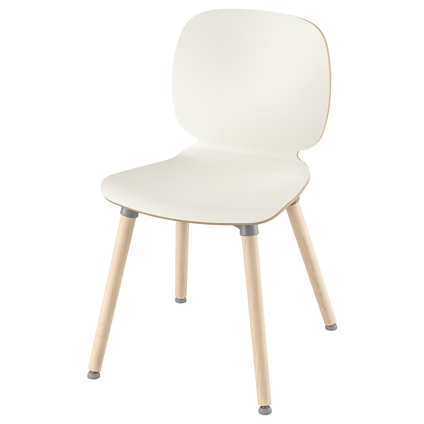 IKEA SVENBERTIL Krzesło, biały, Ernfrid brzoza