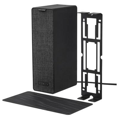 SYMFONISK / SYMFONISK Głośnik WiFi ze wspornikiem, czarny, 31x10x15 cm