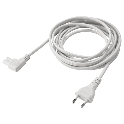 SYMFONISK Kabel zasilający, tkanina/biały, 3.5 m