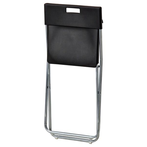 TÄRENDÖ / GUNDE Stół i 4 krzesła, czarny, 110 cm