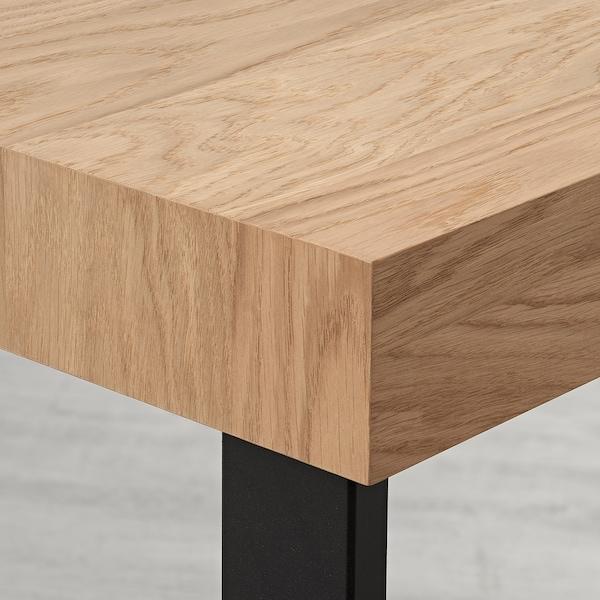 TARSELE Stół rozkładany, okl dęb/czarny, 150/200x80 cm