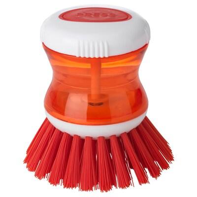 TÅRTSMET Szczotka do zmywania z dozownikiem, czerwony