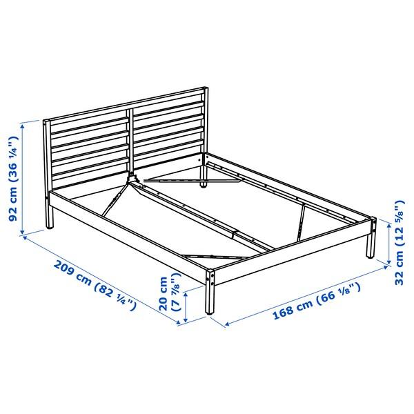 TARVA rama łóżka sosna/Lönset 209 cm 168 cm 32 cm 92 cm 200 cm 160 cm