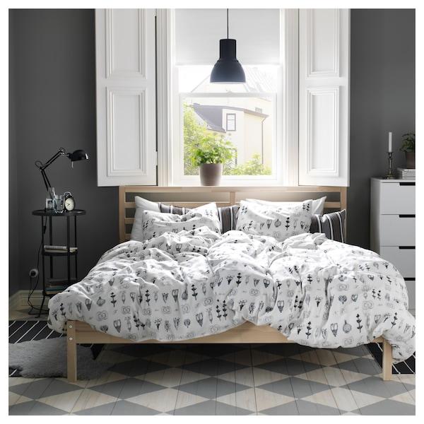 TARVA Rama łóżka, sosna/Leirsund, 140x200 cm