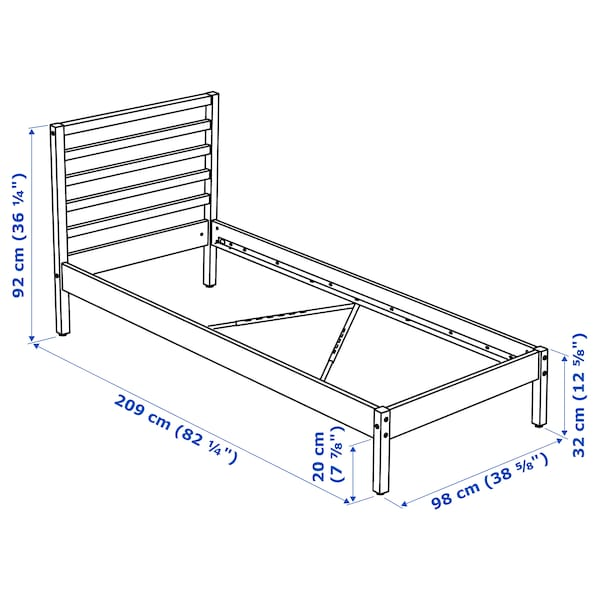 TARVA Rama łóżka, sosna, 90x200 cm