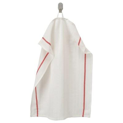 TEKLA Ścierka, biały/czerwony, 50x65 cm