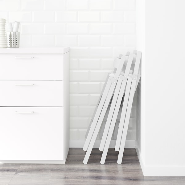 TERJE Krzesło składane, biały
