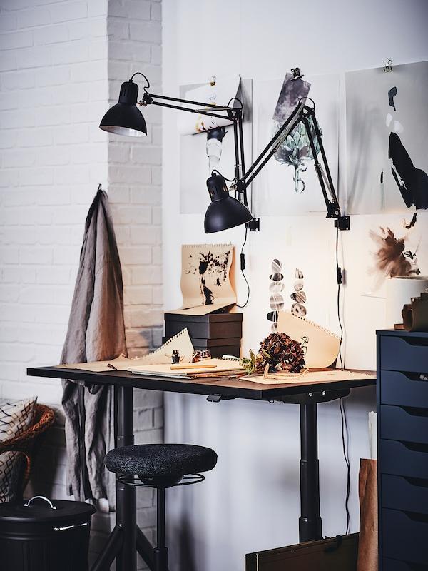TERTIAL Lampa biurkowa, ciemnoszary