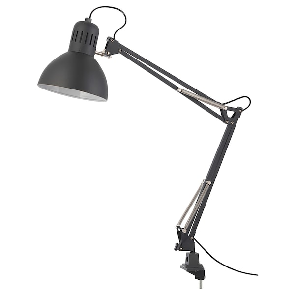 TERTIAL lampa biurkowa ciemnoszary 13 Wat 17 cm 1.5 m