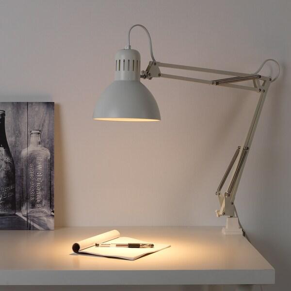 TERTIAL lampa biurkowa biały 13 Wat 17 cm 1.5 m