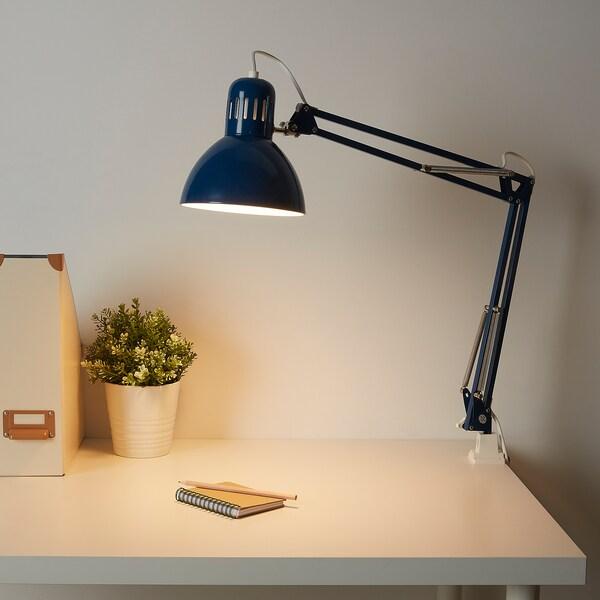 TERTIAL lampa biurkowa niebieski 13 Wat 17 cm 1.5 m