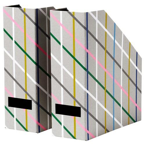 TJENA segregator szary wielobarwny/papier 25 cm 30 cm 2 szt. 10 cm