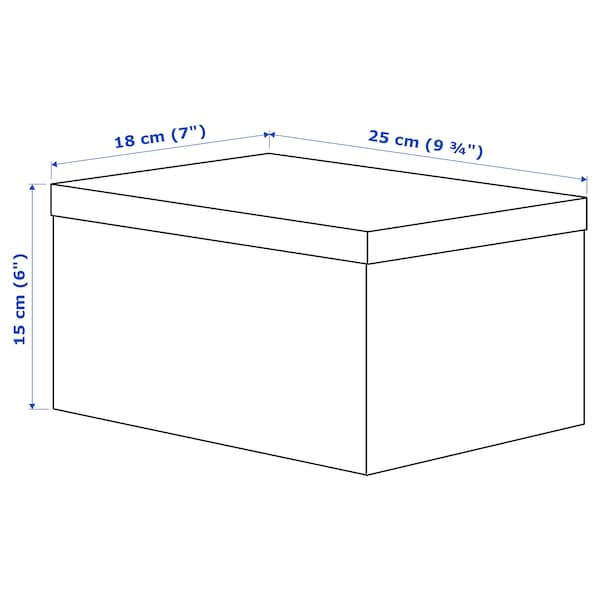 TJENA Pojemnik z pokrywą, biały, 18x25x15 cm