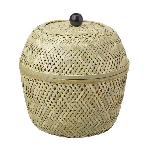 TJILLEVIPS kosz bambus 28 cm 25 cm