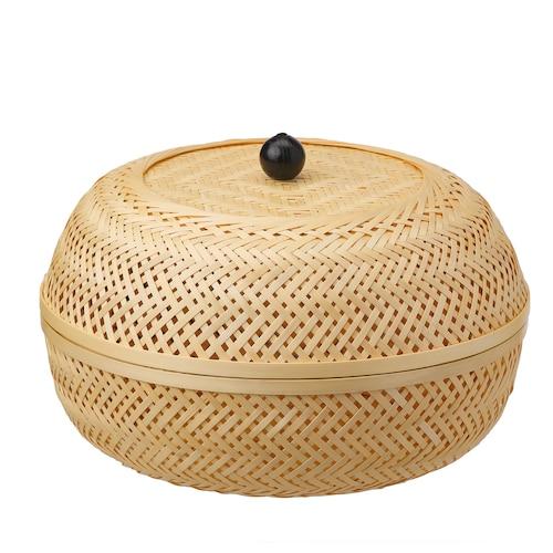 TJILLEVIPS kosz bambus 21 cm 32 cm