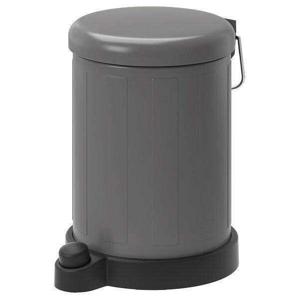 TOFTAN Kosz na odpady, szary, 4 l