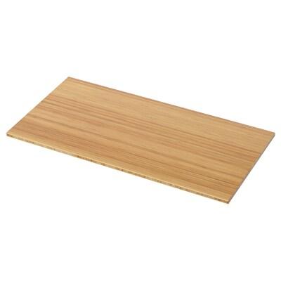 TOLKEN Blat łazienkowy, bambus, 102x49 cm