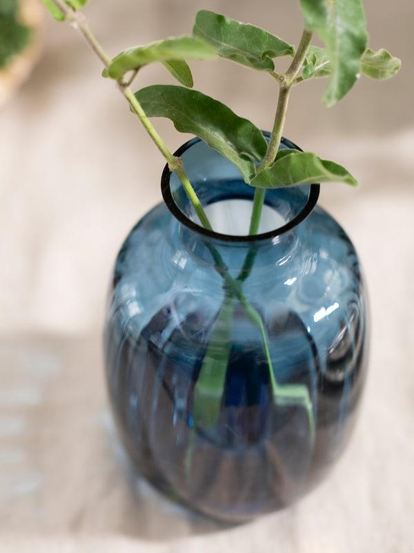 TONSÄTTA Wazon, niebieski, 21 cm