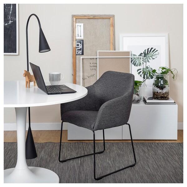 TOSSBERG Krzesło, metal czarny, szary, Zamów tutaj IKEA