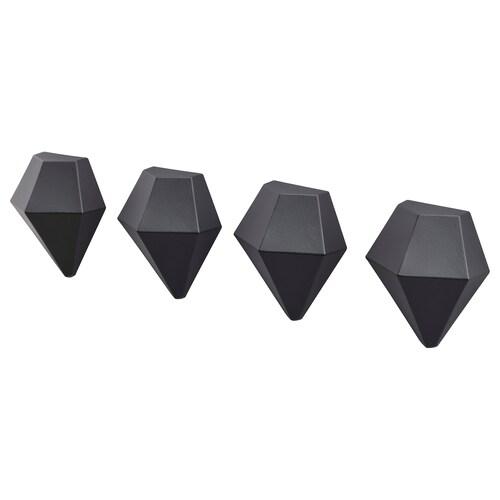 TOTEBO magnes czarny 4 szt. 5.5 cm 4.5 cm