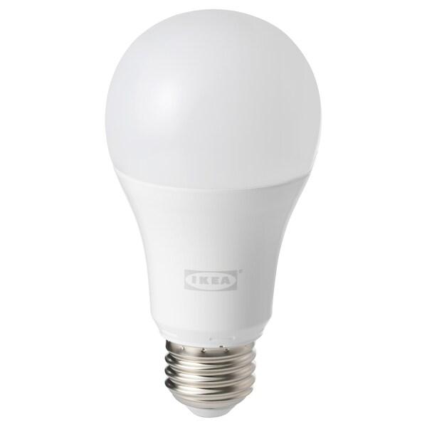 TRÅDFRI żarówka LED E27 1000 lumenów  bezprzewodowy przyciemniany białe spektrum/kula opalowa biel 1000 lm 2700 Kelwin 12 cm 6 mm 11 Wat