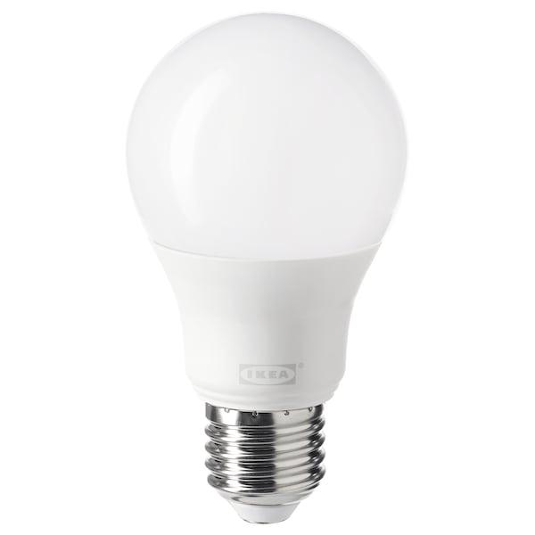 TRÅDFRI Żarówka LED E27 806 lumenów bezprzewodowy przyciemniany ciepły biały/kula opalowa biel 806 lm 2700 Kelwin 11 cm 60 mm 8.9 Wat