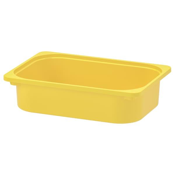 TROFAST Pojemnik, żółty, 42x30x10 cm