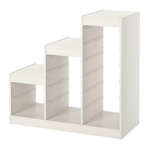 TROFAST Rama IKEA Zabawna i wytrzymałą seria mebli do przechowywania i organizowania zabawek, siedzenia, zabawy i relaksu.