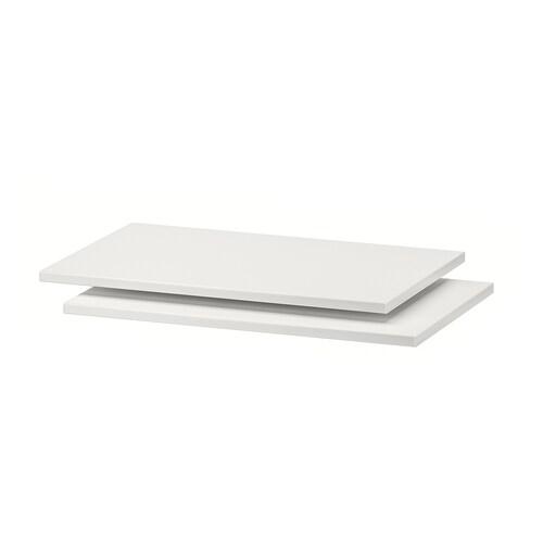 TROFAST półka biały 42 cm 30 cm 1.2 cm 2 szt.