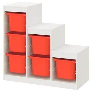 Kolor: Biały/pomarańczowy.