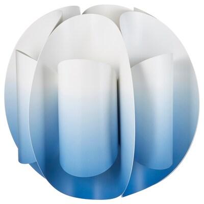 TRUBBNATE Klosz lampy wiszącej, biały/niebieski, 38 cm