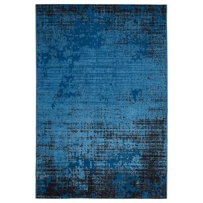 TRYGGELEV Dywan z krótkim włosiem, niebieski patynowany, 133x195 cm