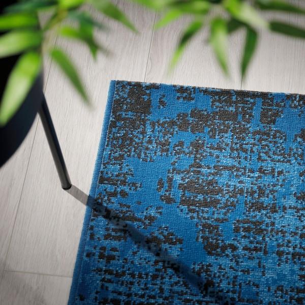 TRYGGELEV Dywan z krótkim włosiem, niebieski patynowany, 160x240 cm
